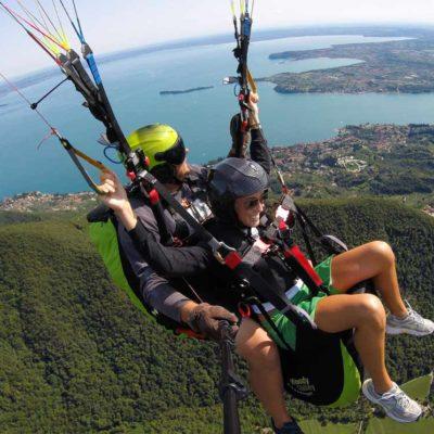 Volo Regalo Deltaplano Parapendio sul lago di Garda Brescia